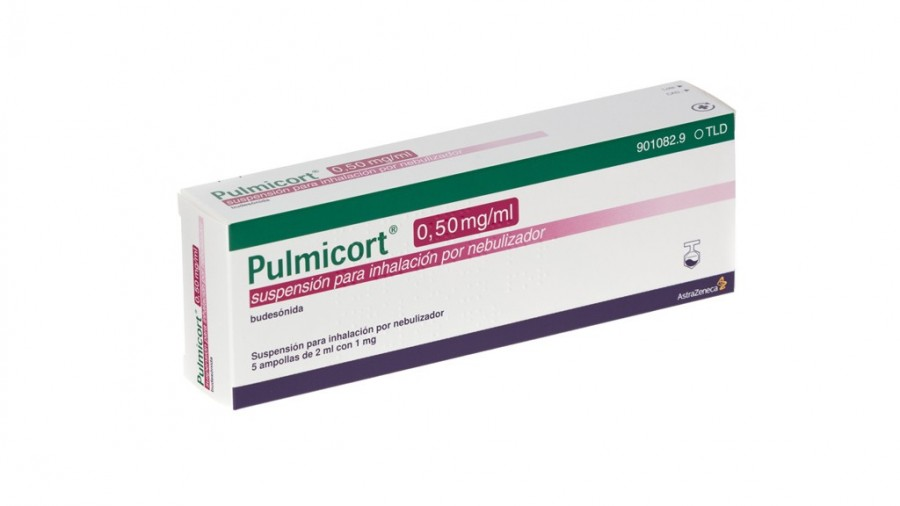 PULMICORT 0,50 mg/ml SUSPENSION PARA INHALACION POR NEBULIZADOR, 40 ampollas de 2 ml fotografía del envase.